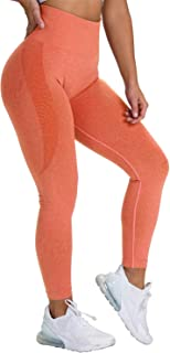 bbmee Leggings for Women Butt Lift,Yoga Pants Sport Workout Sexy Seamless High Waisted Compression Gym Exercise Tights