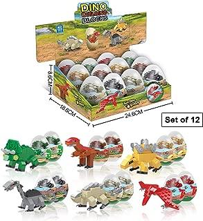 Dinosaur Toys – 12 Surprise Dinosaur Eggs Building Blocks STEM Toys for Boys & Girls – 7-in-1 Kids Toys – Educational Toys Perfect for Dinosaur Party Favors for Kids & Dinosaur Party Supplies