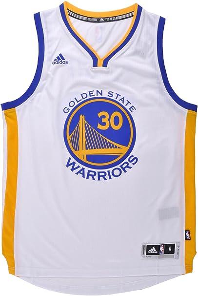 adidas Stephen Curry Men's White Golden State Warriors Swingman Jersey