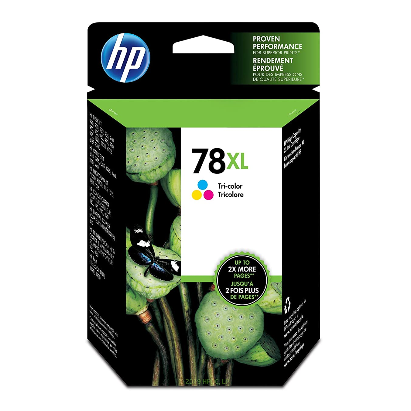 HP 78XL Tri-color Ink Cartridge (C6578AN) for HP Deskjet 3820 920 9300 930 932 940 955 960 980 HP Officejet g55 g85 k80 v40 HP PSC 750 950