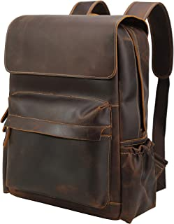 polare handcrafted leather laptop backpack