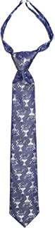 Boys Pre-Knotted Navy Blue 14 Inch Communion Tie Featuring Chalice Emblems