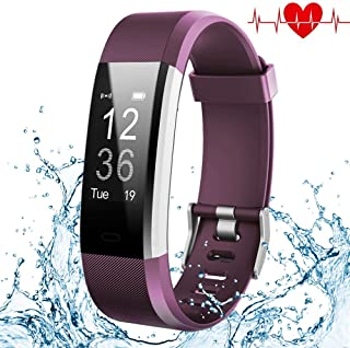 Fitness Tracker, Elegant Waterproof Heart Rate Monitor Activity Tracker Wearable Wristband Wireless Step Counter Smart Bracelet Watch for Android and iOS Smartphones