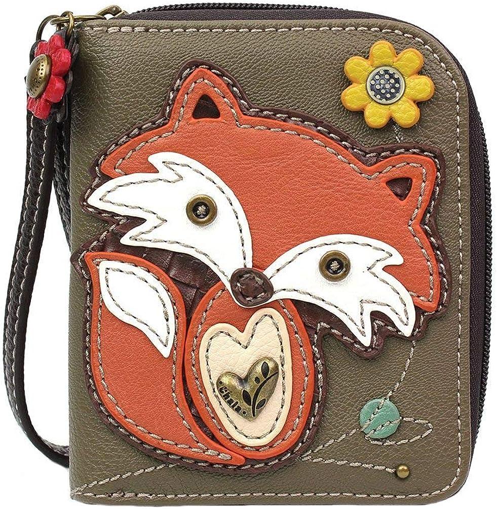 Chala Free shipping Handbags Fox Max 40% OFF Zip-Around Wallet for Love Wristlet Gift