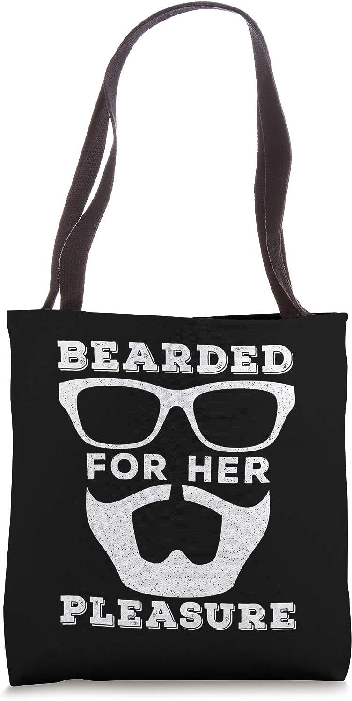 Bearded For Her Pleasure Funny Men's Tote Bag