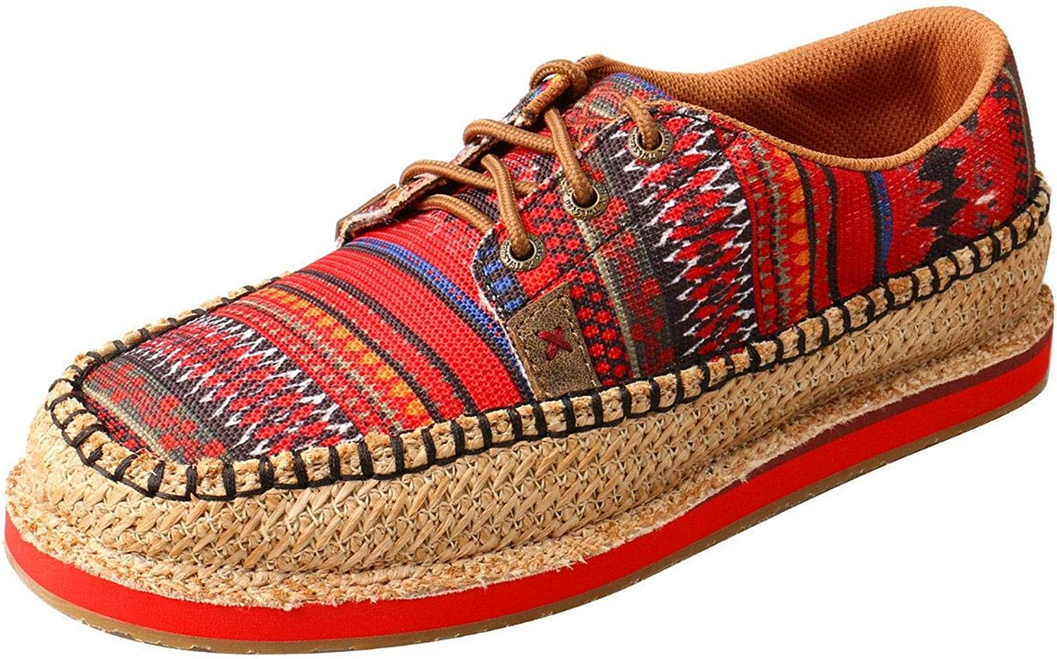 Twisted X Women's Weave Moccasin shoes Moc Toe