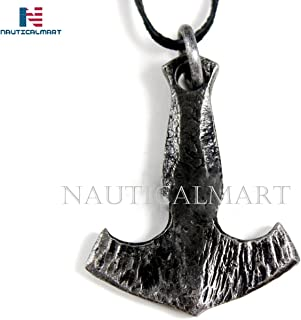 Hand Forged Viking Mjolnir Thor's Hammer Pendant - Norse/Medieval/Jewelry/Skyrim