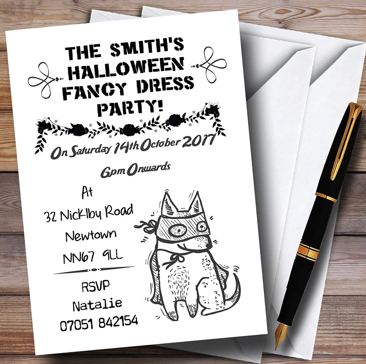 Fancy Dress Personalised Halloween Party Invitations   Invites & Envelopes