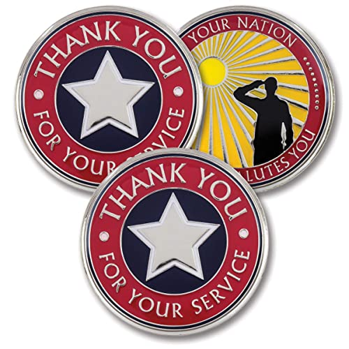 1dd81adc Thank You for Your Service – Military Coins – AttaCoin Veteran Gift Series  (3 Pack