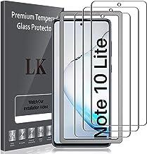 LK Compatible avec Samsung Galaxy Note 10 Lite Verre Trempé, 3 Pièces,Protection écran,Cadre d'installation Facile,Dureté 9H,Protection d'écran Verre Trempe Vitre
