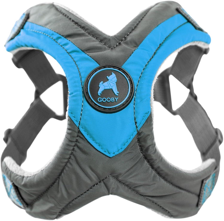 Gooby Trekking Memory Foam Harness & Comfort for Dogs, XLarge, bluee