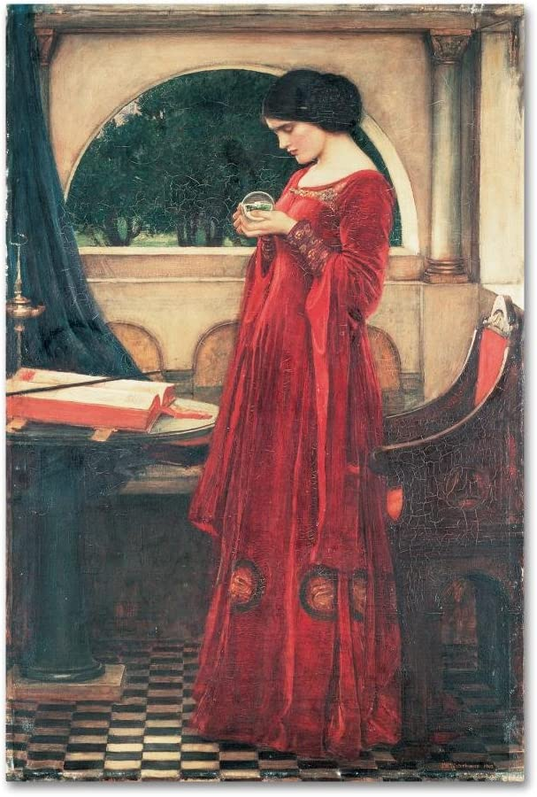 Limited Special Price The Crystal Ball service by John William Canvas 16x24-Inch W Waterhouse