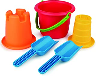 "Hape E4053 5-In-1 Beach Set (5 Piece),Multi,One Size,""L: 8.1, W: 9.8, H: 7.5 inch"""