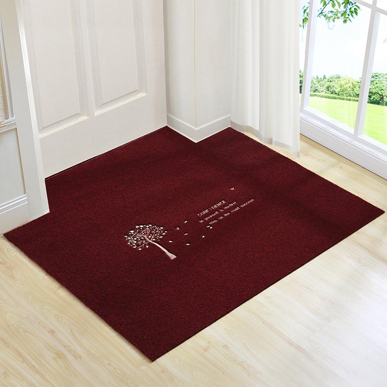 Carpet Doormat Door mats Entrance Hall The Door Bathroom Kitchen Water-Absorbing mats Non-Slip mat-E 120x120cm(47x47inch)