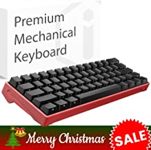 iQunix Lambo 62 Red Body with Black Keycaps Mechanical Keyboard, for Programming, Designing, Gaming, Works with Mac OS and Windows, Includes Your Choice of Cherry MX switches in Blue or Brown
