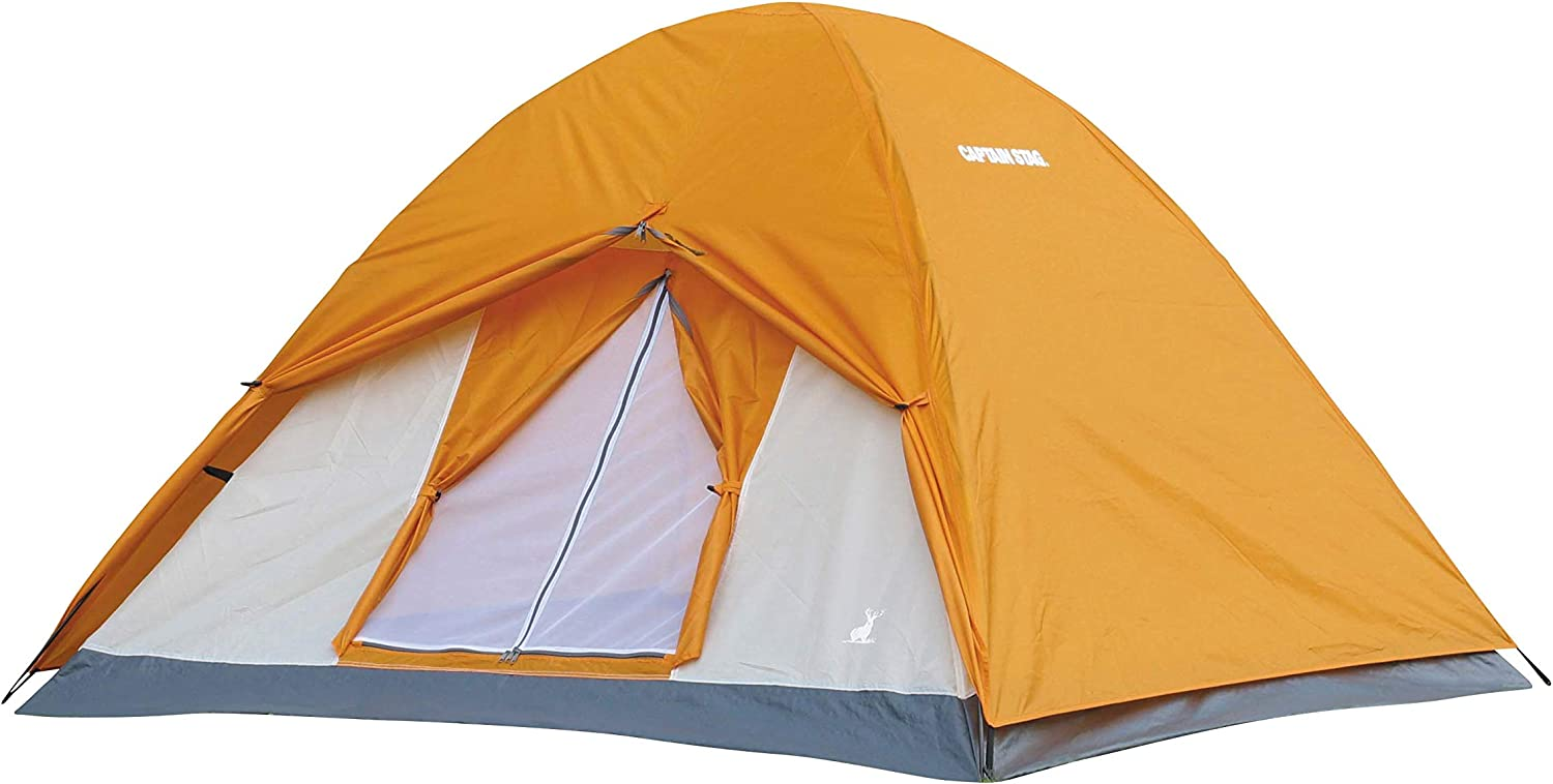 Crescent 3 People Dome Tent Outdoor Waterproof Camping Carry Bag Amber