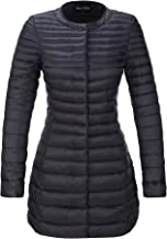 Bellivera Women's Quilted Lightweight Padding Jacket, Puffer Coat Cotton Filling Water Resistant for Fall and Winter