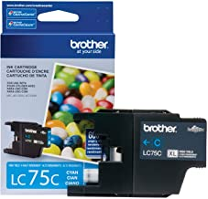 Brother Printer LC75C High Yield XL Series Cartridge Ink - Retail Packaging Cyan