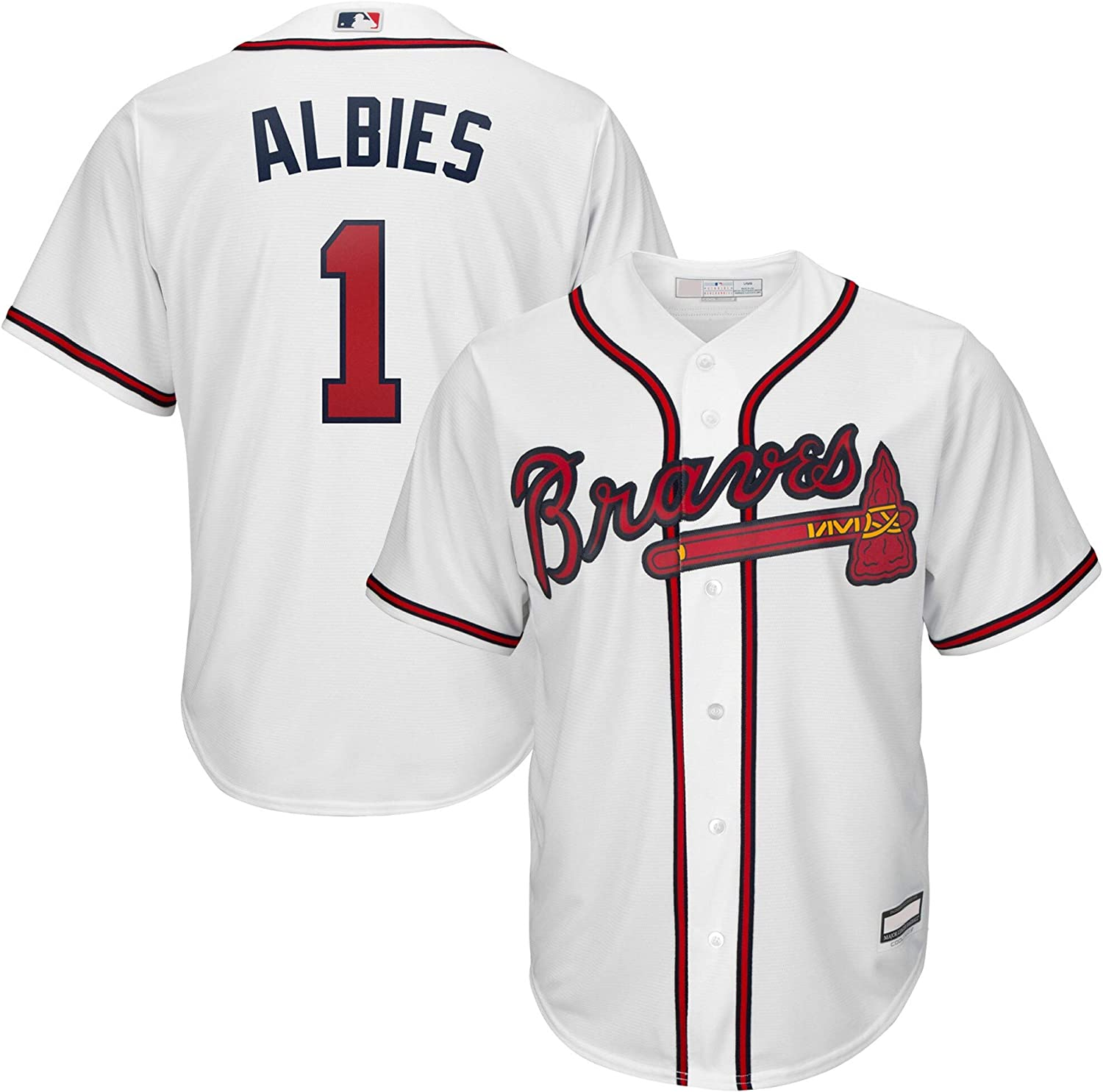 Outerstuff online shopping Ozzie Albies Atlanta Time sale Braves 8-20 Youth Boys Playe MLB