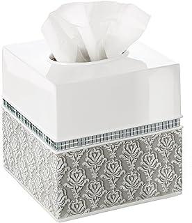 Creative Scents Mirror Damask Square Tissue Box Cover Decorative Bathroom Tissues Paper Holder Modern Napkins Container Bo...