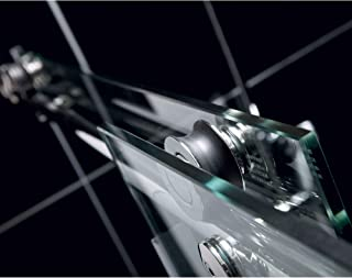 DreamLine Enigma-X 56-60 in. W x 76 in. H Fully Frameless Sliding Shower Door in Brushed Stainless Steel, SHDR-61607610-07