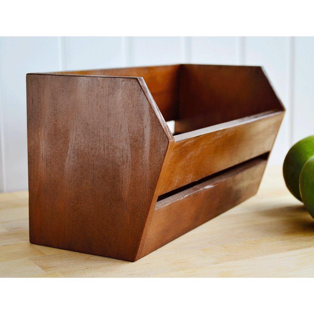 Uala Shop Caja Alargada de Madera: Amazon.es: Hogar