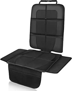 NWOUIIAY Autositzauflage Autositzschutz Sitzauflage Wasserabweisend Kindersitzunterlage Isofix Geeignet mit Kopfstütze und rutschfesten Netztaschen Schutzfür den Autositz