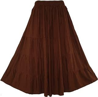 Beautybatik Boho Gypsy Long Maxi Tiered Skirt