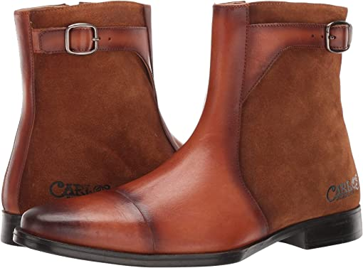 Cognac Calfskin Leather/Suede