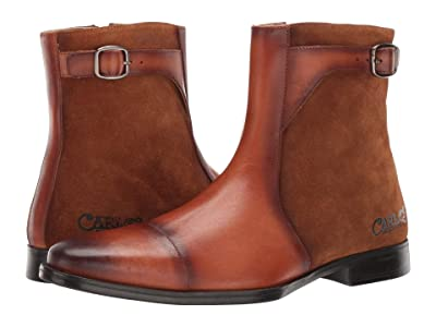 CARLOS by Carlos Santana Spirit (Cognac Calfskin Leather/Suede) Men
