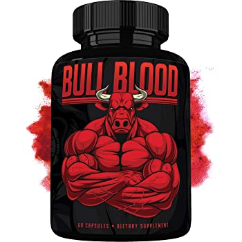 Bull Blood - Natural Energy Pills - Increase Strength and Energy - Powerful Supplement with Natural Ingredients - 60 Capsules - Made in USA