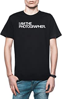Rundi I Am The Photographer Hombre Camiseta Negro Todos Los Tamaños - Men's T-Shirt Black