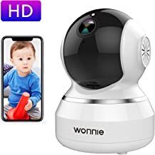 WONNIE Wireless Camera, 1080P HD Security Monitor 2.4G WiFi IP Camera Motion Detection Night Vision for Baby/Elder/Pet, Two-Way Audio