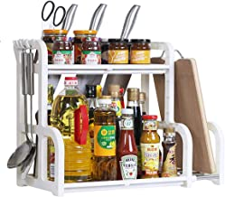 OBOR Spice Rack - 2 Tier Multifunctional Kitchen Countertop Seasoning Storage Rack with Knife Block, Utensil and Board Hol...