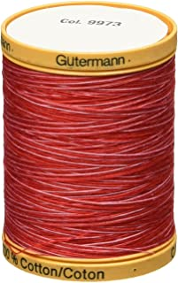 Gutermann Natural Cotton Thread Variegated 876 Yards-Ruby Red