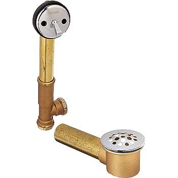 Gerber 41-818-91  20-Gauge Brass Trip-Lever Bath Drain,Chrome finish Brand New
