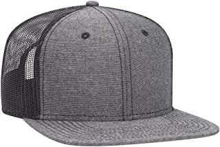 Adjustable Blank Snap 6 Panel Pro Style Cotton Blend Chambray Snapback Hat (One Size Fits Most)