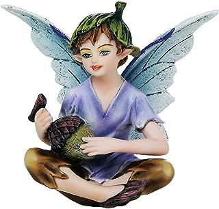 Pacific Giftware Fairy Garden Flower Boy Fairy with Acorn Decorative Mini Garden of Enchantment Figurine 3 Inch