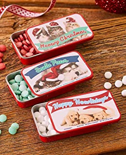 3 Holiday Novelty Mints - Kitties and Puppies