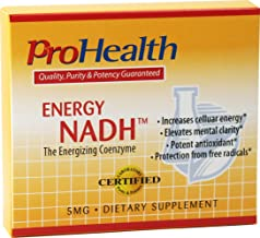 ProHealth Energy NADH (5 mg, 60 tablets) - Boost Energy, Mental Clarity, Alertness and Concentration | Unique Cellulose Matrix Coating for Enhanced Absorption | Gluten Free | Dairy Free | Vegetarian