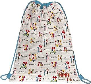37610537 Colección Nina and Other Little Things Mochila Saco con Cuerdas y Bolsillo Exterior, Modelo Friends, 36 x 47 cm