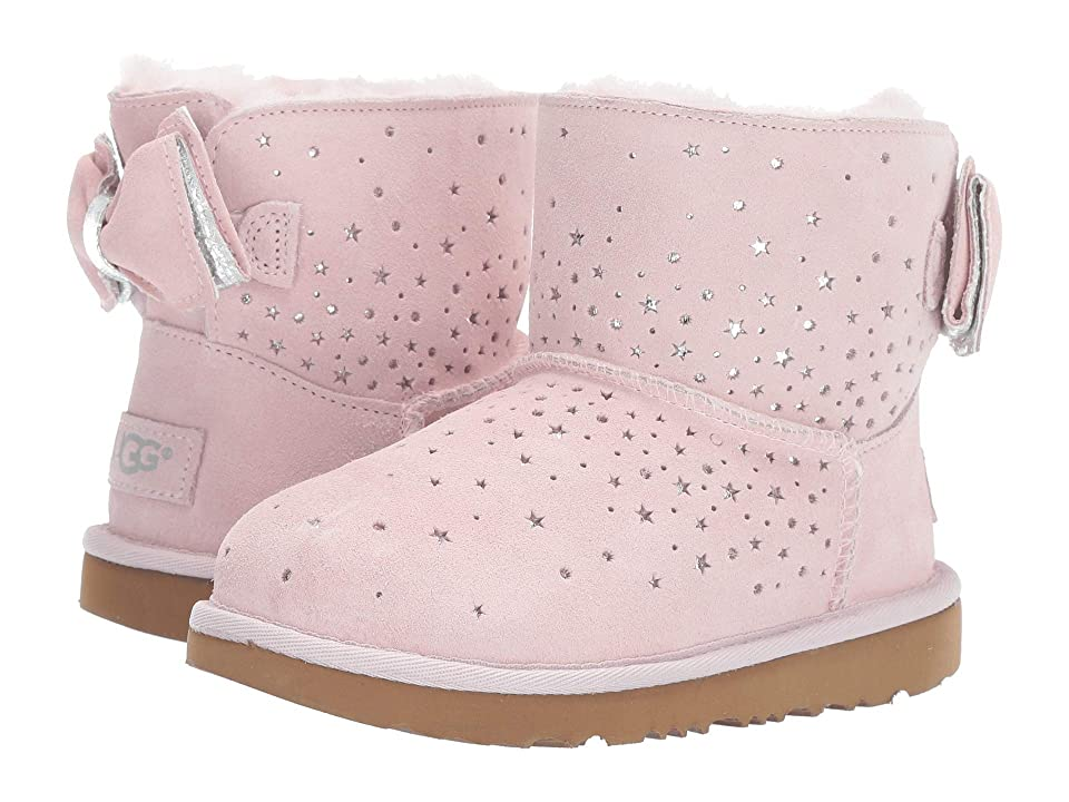 UGG Kids Stargirl Classic Mini II Bow (Little Kid/Big Kid) (Baby Pink) Girls Shoes