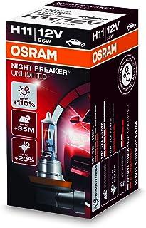 OSRAM 64211NBU NIGHT BREAKER UNLIMITED H11, Halogen headlamp, 64211NBU, 12V passenger car, folding carton box (1 unit)