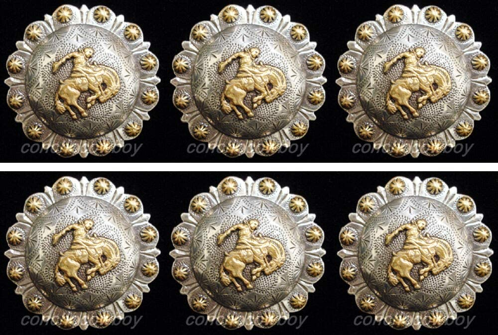 Conchos Leathercraft Accessories Set of Horse Houston Mall trust TACK 6 Gol Western