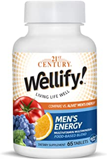 21st Century Wellify Men's Energy Multivitamins with Minerals, 65Count