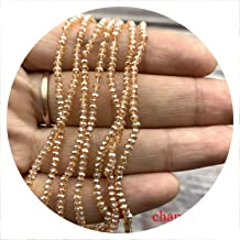 1 Strand 1mm/2mm Small Crystal Rondelle Beads Seed Beads Spacer Beads Little Beads for Jewelry Making Jewelry DIY,Champagne,1mm-195pcs