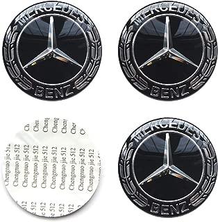 MonboAuto 4PCS 2.56'' 65MM Emblem Badge Sticker Wheel Hub Caps Centre Cover fit for Mercedes-Benz