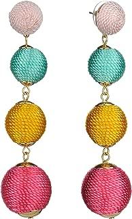 Women's Quadruple Thread Lantern Ball Dangle Fashion Earrings