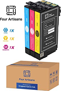 FourArtisans Repackaged Original Brand 802 Ink Cartridges, Original Epson Ink Inside, Work for WF-4730, WF-4720, Wf-4734, WF-4734 Printers (3 Color Standard, C M Y)