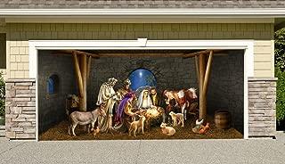 Outdoor Decoration Nativity Scene Christmas Holiday Home Garage Door Decor Banner Billboard Decoration 7' x 16'